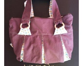 Canvas and cotton handbag