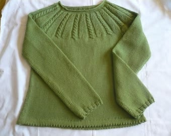 Green sweater in Cascade 220 Superwash sport