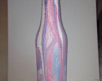 Hand Painted Beer Bottle