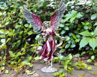 Pewter Angel and Dragon