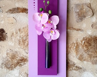 Purple floral painting with light Purple Orchid