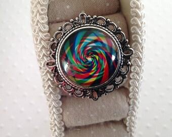"""Romantic"" spiral ring"