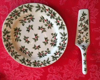Christmas Serving Plate and cake server(spatula)