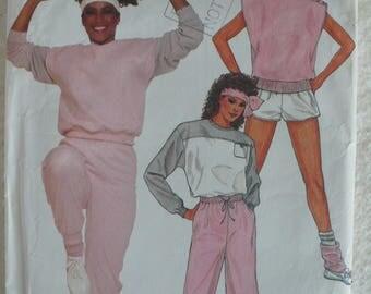 Women's Pants, Shorts, Vest and Top Pattern, Jayne Kennedy Collection, Vintage Butterick 6318 - Size 14-18