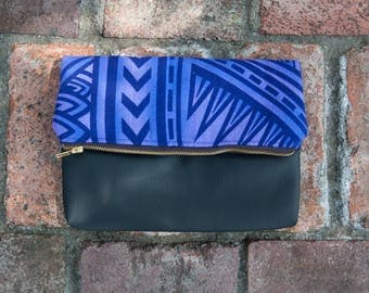 Purple/Blue Clutch