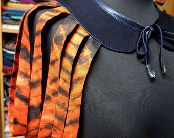 Necklace inspired shawl made from African fabric WAX print Zebra