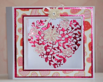 Valentine's Day heart frame card