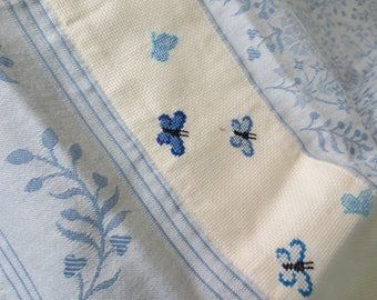 Butterfly embroidered towel