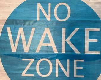 No Wake Zone stencil