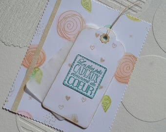 """Greeting card """"the most beautiful gifts from the heart"""""""
