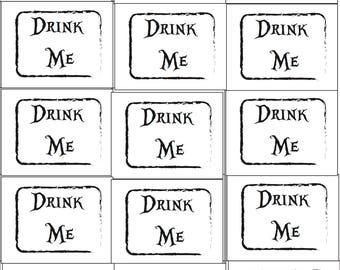 Alice In Wonderland-Drink Me Print-Digital Download