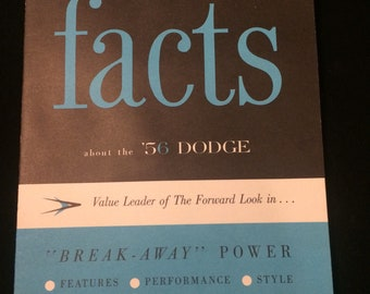 "1956 Dodge dealer literature - ""Facts"""