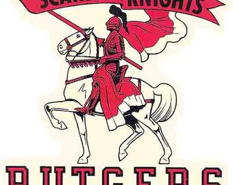 Vintage Style  Rutgers University  Travel Decal sticker college
