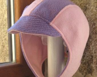 Pink/Purple fleece helmet size 4-8 years