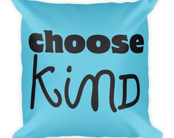 Choose Kind double sided Square Reading Pillow Team Auggie Wonder Movie RJ Palacio Anti Bullying Kindness Teacher Gift Motivation