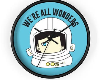 We're All Wonders Classroom Wall Clock choose kind wonder movie rj palacio kindness anti bullying school education positive message