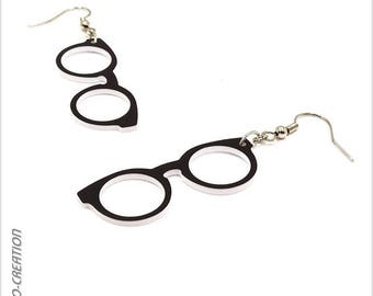 Earrings round sunglasses