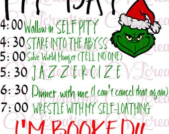 Grinch Christmas Schedule SVG PNG
