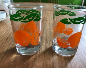1967 Anchor Juice Cups pair