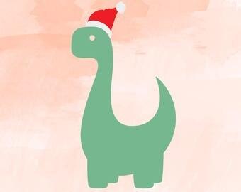 Santasaurus svg, dinosaur SVG,  dinosaur Clipart, christmas svg Cut Files Silhouette Cameo Svg for Cricut and Vinyl File cutting DXF Png Pdf