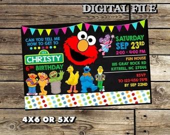 Sesame Invitation,Sesame Street Invitation,Sesame Street Birthday Invitation,Sesame Street Invitation Birthday,Sesame Street Printable