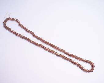 Purple pearls wire - irregular round