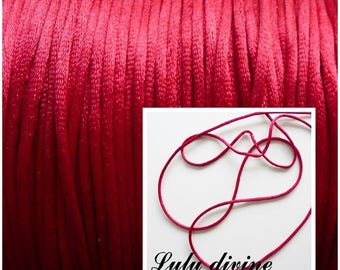 Cord / 2 mm polyester thread, color: Burgundy