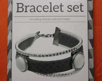 grey/white bracelet making Kit