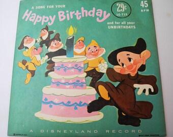 Vintage 45 Tours - Disneyland Vinyl record