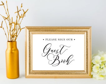 Guest Book Wedding Sign Printable Event Party Signage - Wedding Sign Instant Download Sign Printable Wedding Reception Sign