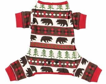 Dog bear Christmas Pajamas Family Dog Matching Christmas Pajamas Dog Pajamas Dog PJ's