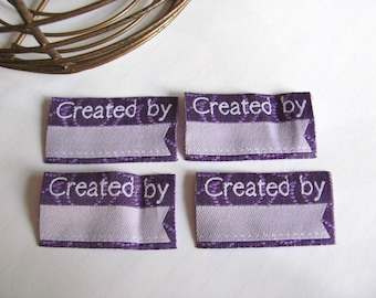 Set of 4 Appliques labels for sewing or craft