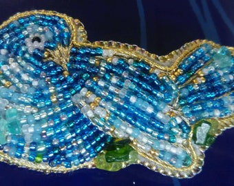 Blue Bird of Happiness Barrette