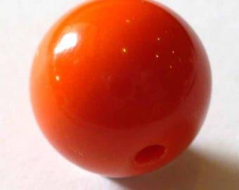 3 Orange round beads 8mm AR312 8 mm orange