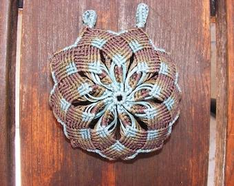 Macrame pendant. Mandala