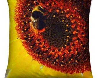 Sunflower Bumble Bee - Cushion Cover 45 x 45cm