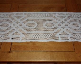 hand made crochet table runner