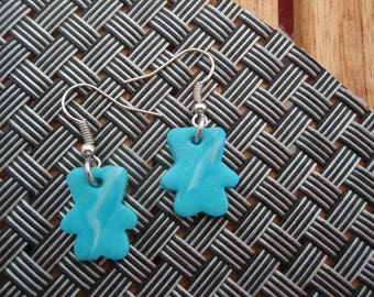 POOH BEAR BLUE COLLECTION EARRINGS