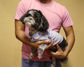 Dog Shirt | The Brigette Shirt | Dog Clothes | Dog Apparel | Dog Shirts for Dogs | Pet Clothing | Floral Dog Shirt
