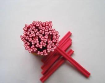 1 x cane polymer clay bow fuchsia 5mm ❤ ❤