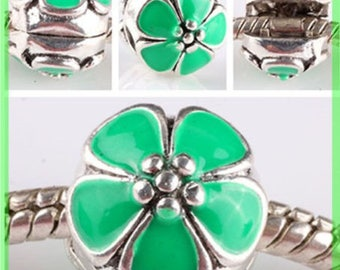 Pearl N628 clip stopper European blocker rhinestones for charms bracelet