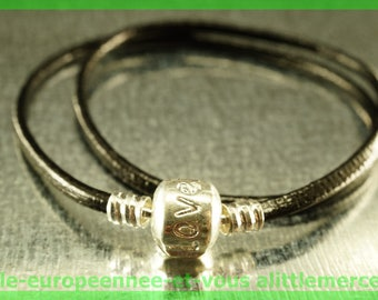 love double bracelet for European leather N83 Pearl 38cm charms