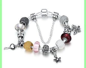 Pearl bracelet Kit European N09 20 cm charms