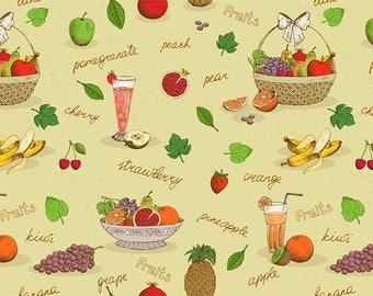SEMI RIGID ORIGINAL PLACEMAT. FOOD DECORATION. PAINTING OF FRUIT AND JUICE.