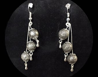 Rain of stardust beads earrings
