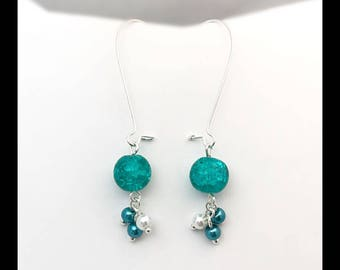 Earrings and cracked beads