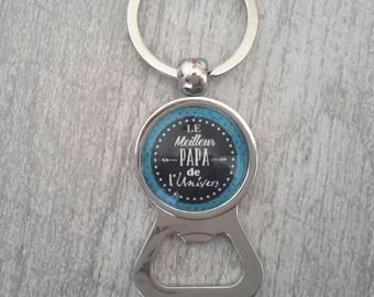 Stunning key ring bottle opener handmade dad black blue ❤ gift ❤ ❤
