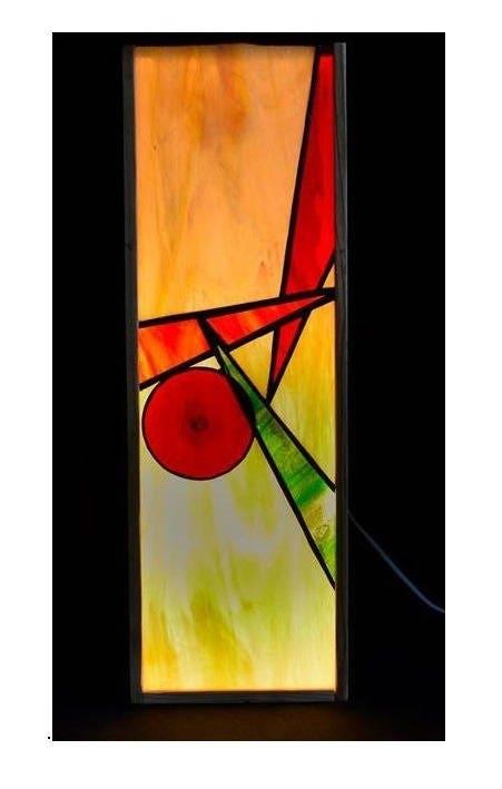 Lampe poser boite vin et vitrail tiffany lumi re - Lumiere d ambiance salon ...