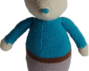 Mrs or Mr mouse, crochet toys