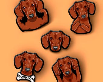 Dachshund dog pin. Pet dog brooch | Custom Pet Portrait | Pet Art Illustration | Dog Portrait Brooch | Dog Lover Gift | Pet Loss Gift |